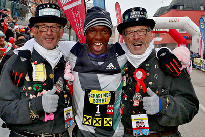DAP's Chumo Victor Kimutai and Tanui Angela Jemesunde take victory at the Silvester Lauf Peuerbach new year's eve race in Austria