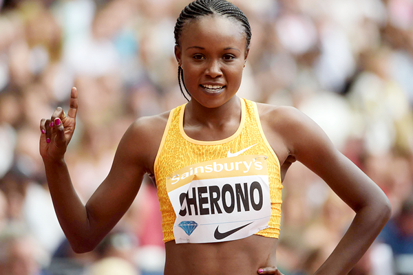 DAP's represented Mary Cherono of Kenya claims second in the women's 3000 meters at the Herculis Monaco D L Meeting on Friday 15