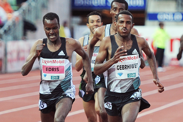 Ethiopia's Muktar Edris was held off to second position at the ExxonMobil Bislett Games on Thursday, June 09