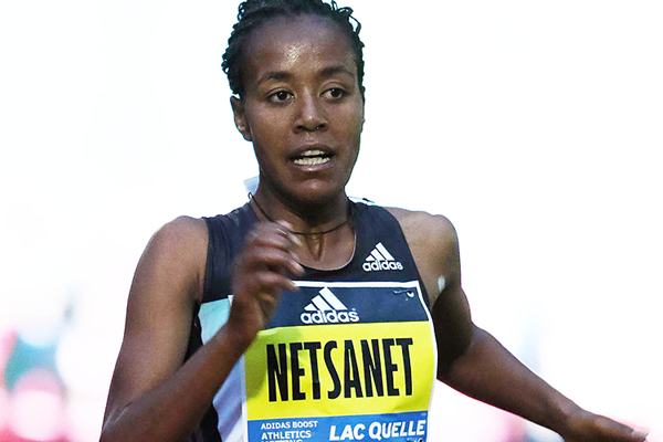 DAP's Netsanet Gudeta sets women's 10000 m world-leading time to win the inaugural Adidas Boost meeting in Herzogenaurach - German on Friday 13