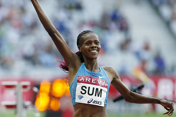 Demadonna's Eunice Sum of Kenya finished strong over the final 50 meters to secure a third place in ISTAF Berlin