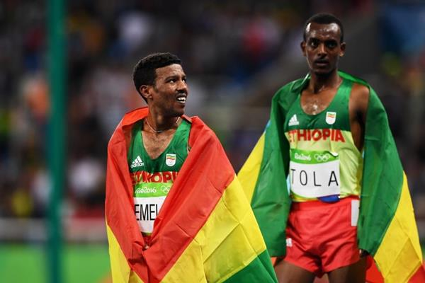 Bronze medal in men's 10,000M for Demadonna's Tola, of Ethiopia, at the Rio 2016 Olympic Games on Saturday AUG 13